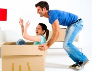 couple qui emménage
