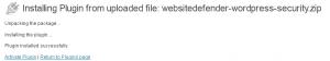 plugin installé dans WordPress