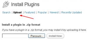 Upload du plugin