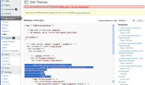 plugin smooth slider édition du fichier home