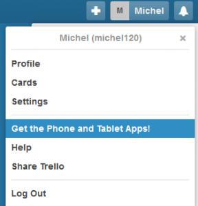 Menu pour télécharger l'applicaiton pour tablette numérique et mobile