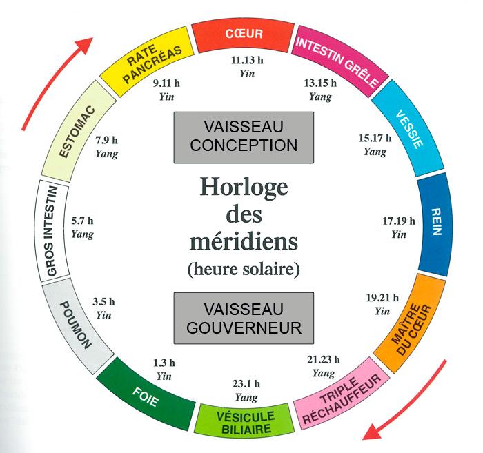 L'horloge des méridiens : méthode pour la mémoriser