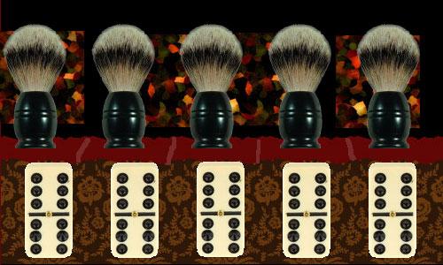 Travail, nazis, dominos et barbier à main