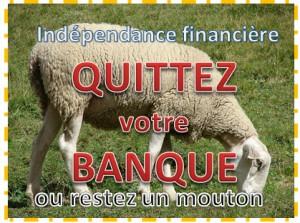quittez votre banque independance financiere mouton