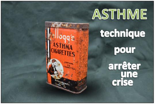 Technique pour arrêter une crise d'asthme
