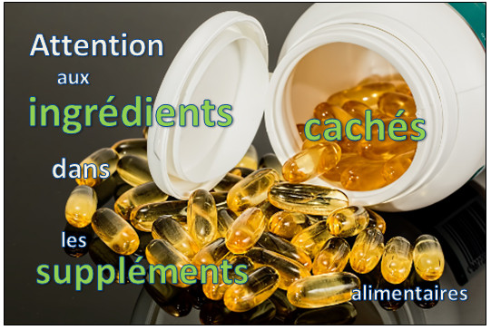 ingredients caches supplements alimentaires