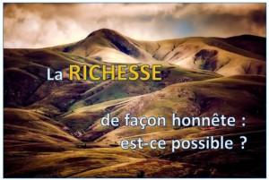 richesse et ethique